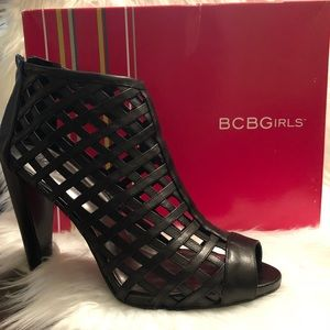 BCBGirls Black Peep-toe Booties